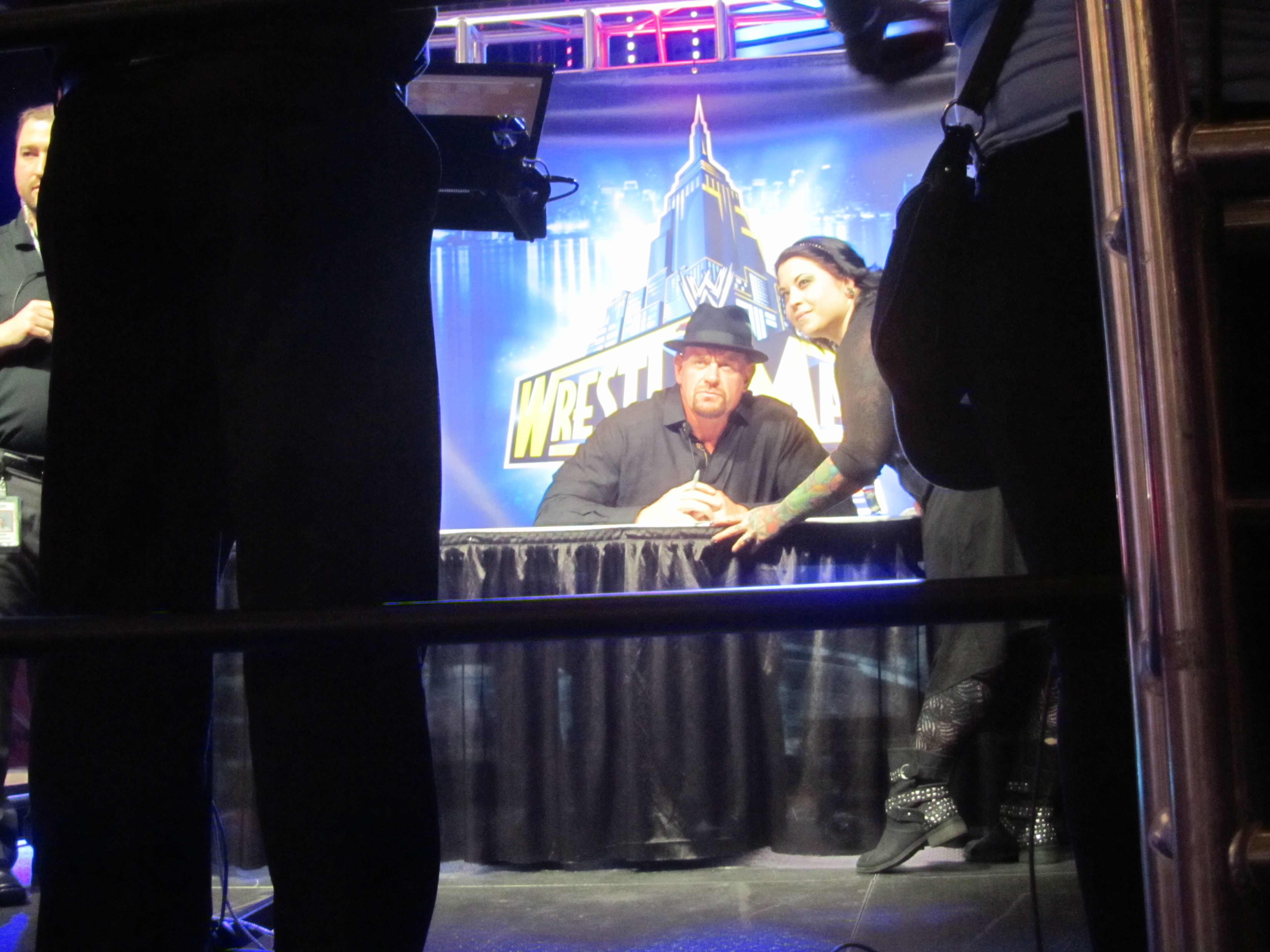 2015 september the north jersey nonconformist wwe fan axess undertaker meet and greet kristyandbryce Image collections